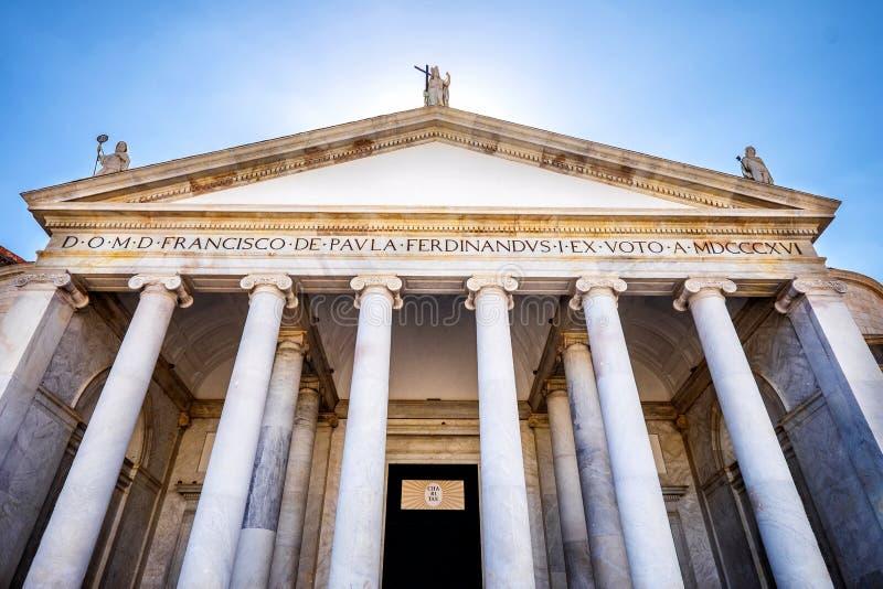 View of Piazza del Plebiscito, Naples,Italy stock photography