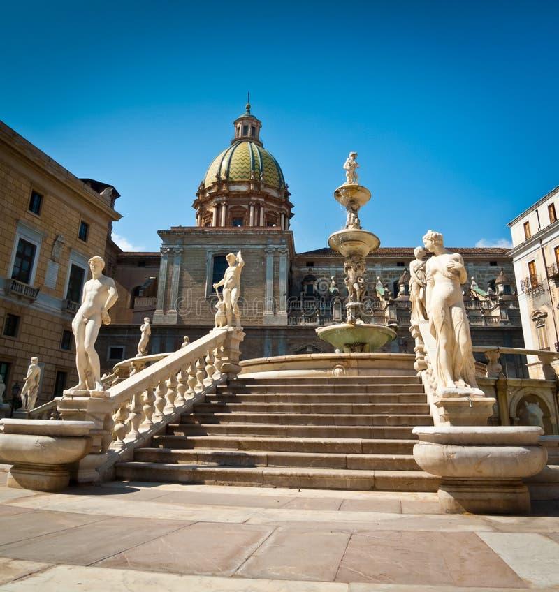 Piazza Pretoria. Or Piazza della Vergogna, Palermo, Sicily, Italy royalty free stock photography