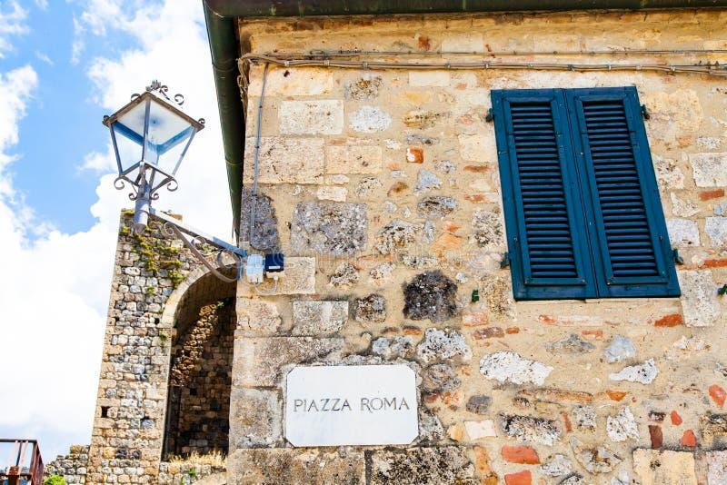 Piazza Rome stock foto's