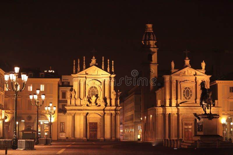 Piazza San Carlo fotografia stock libera da diritti