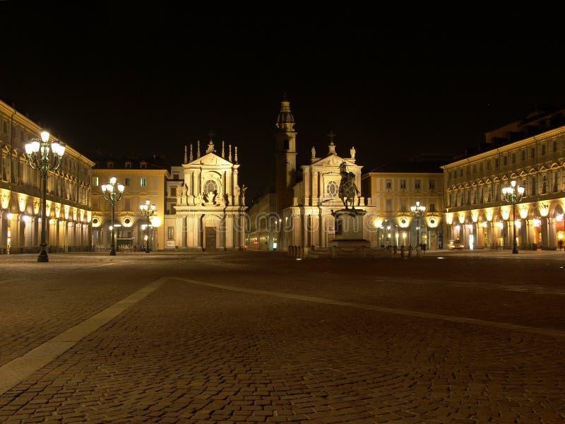 Piazza San Carlo, Torino fotografia stock