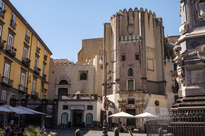 Piazza San Domenico Maggiore obraz royalty free