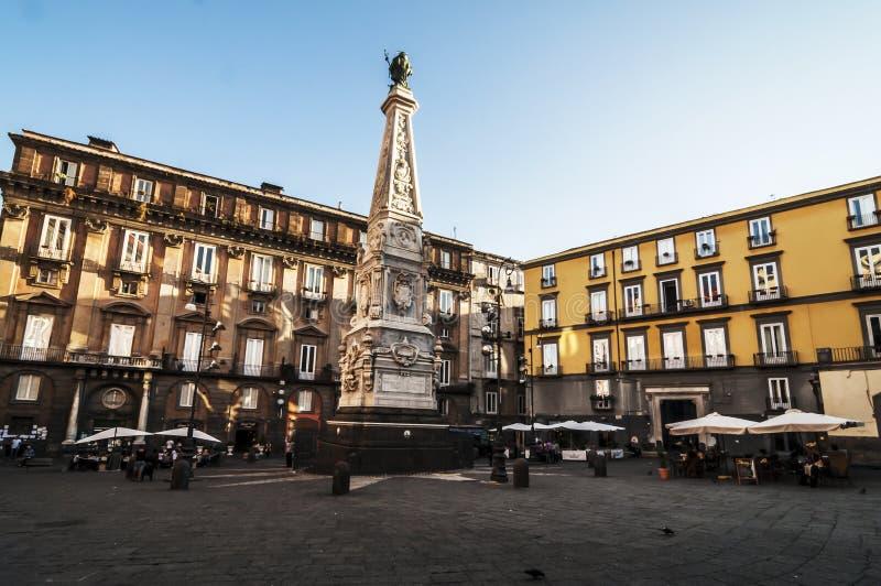 Piazza San Domenico Maggiore zdjęcie stock