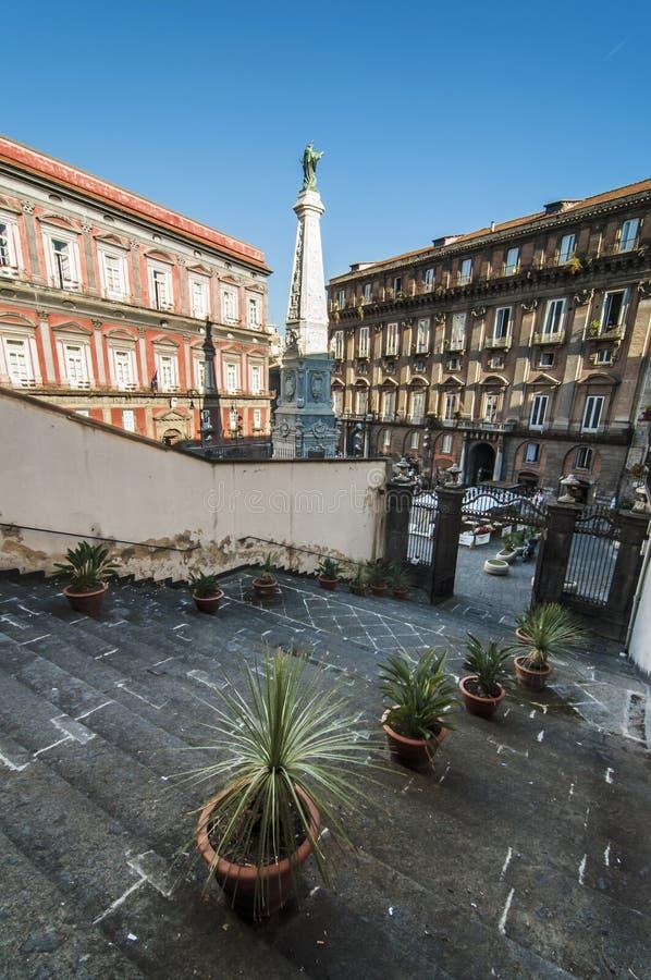 Piazza San Domenico Maggiore fotografia stock