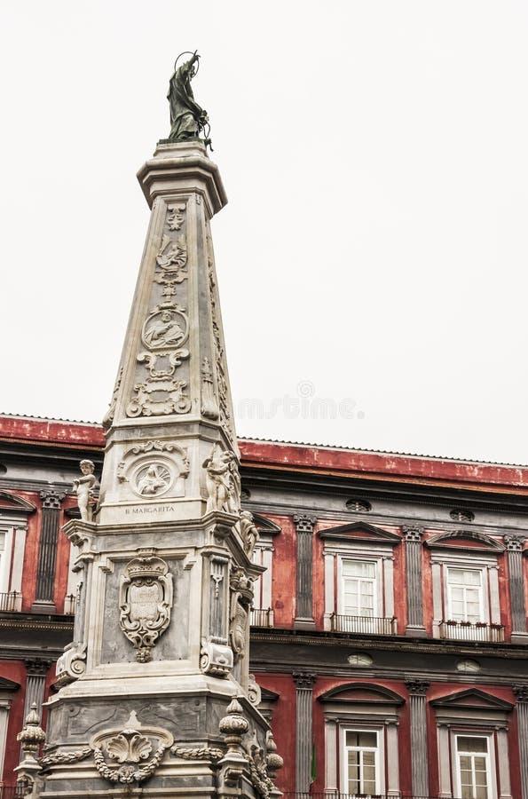 Piazza San Domenico Maggiore obraz stock