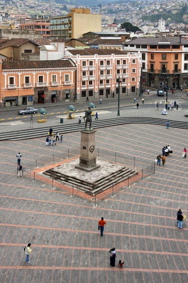 Piazza San Francisco in Quito - Ecuador stockbilder