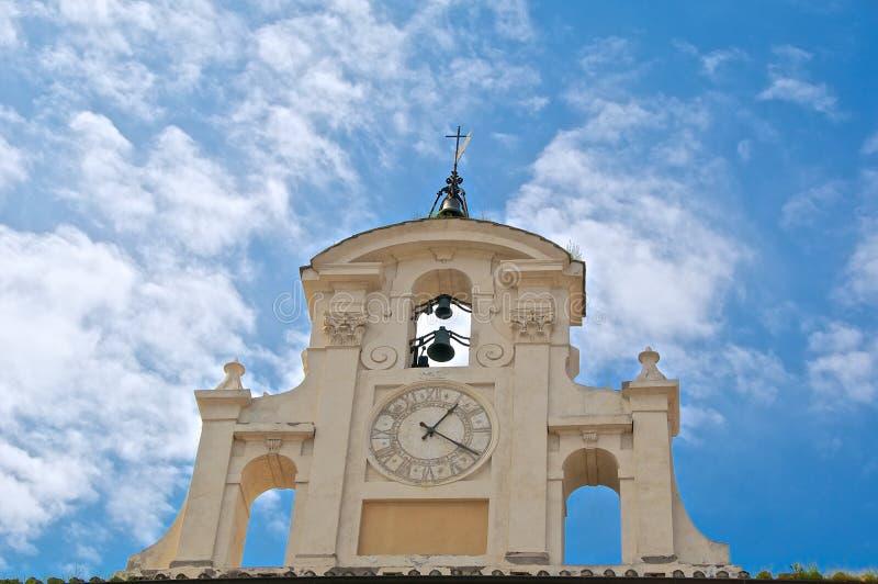 Piazza San Giovanni in Laterano, Orologio Ospedale del Salvatore, Roma stock photos