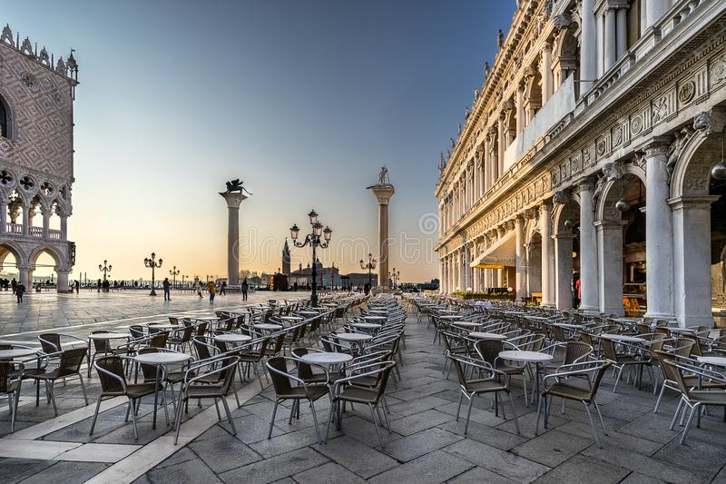 Piazza San Marco one of the greatest piazzas in the world stock photo