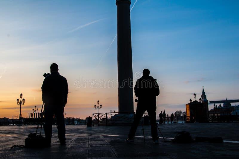 Piazza San Marco i ottan arkivbilder