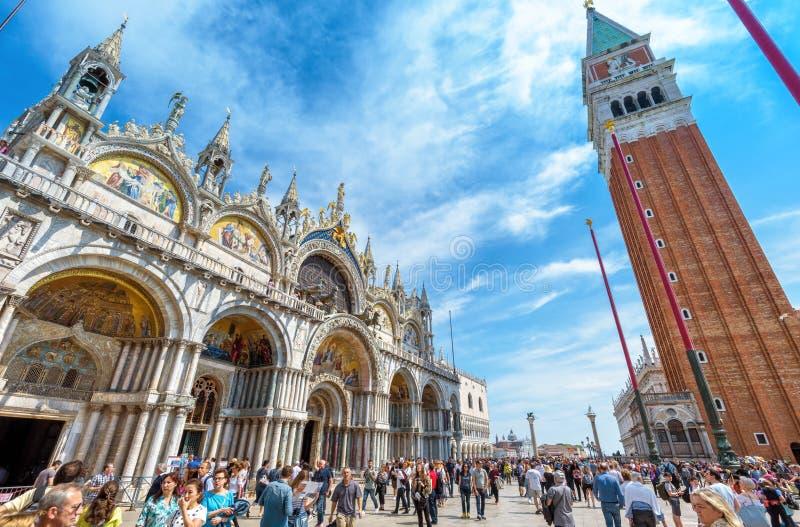 Piazza San Marco o il quadrato di St Mark a Venezia, Italia immagini stock