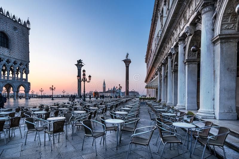 Piazza San Marco one of the greatest piazzas in the world royalty free stock photography