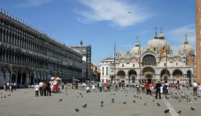 Piazza San Marco in Venetië stock fotografie