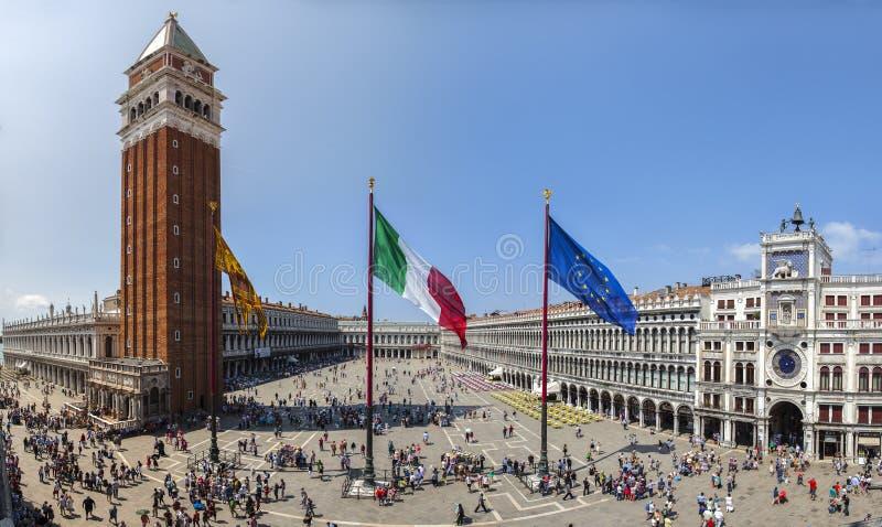 Piazza San marco Venetië royalty-vrije stock foto's