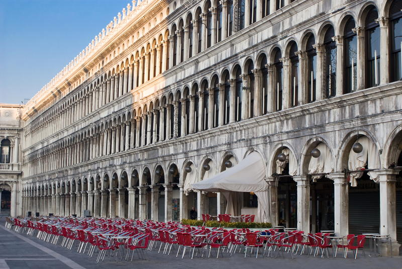 Download Piazza San Marco in Venice stock image. Image of bars - 23488633