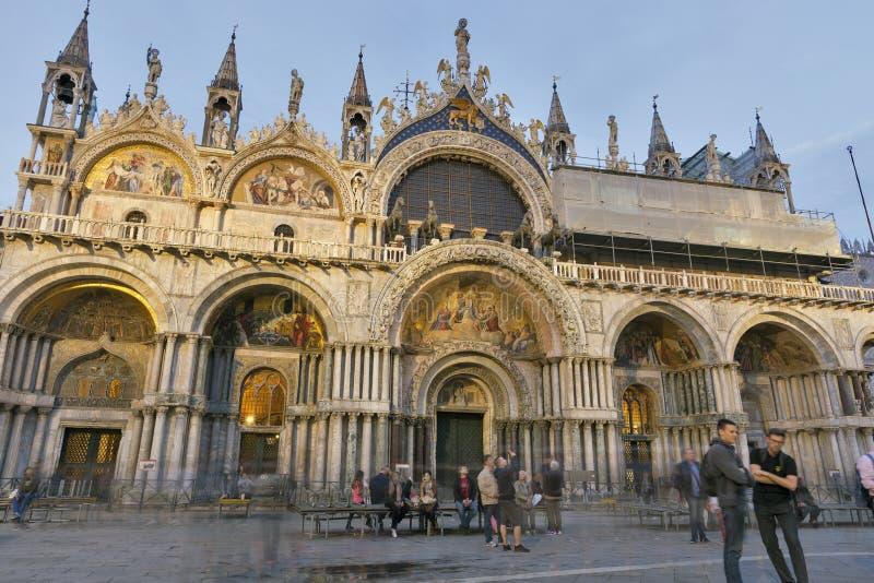 Piazza San Marko in Venetië, Italië De kathedraal van San Marko royalty-vrije stock fotografie