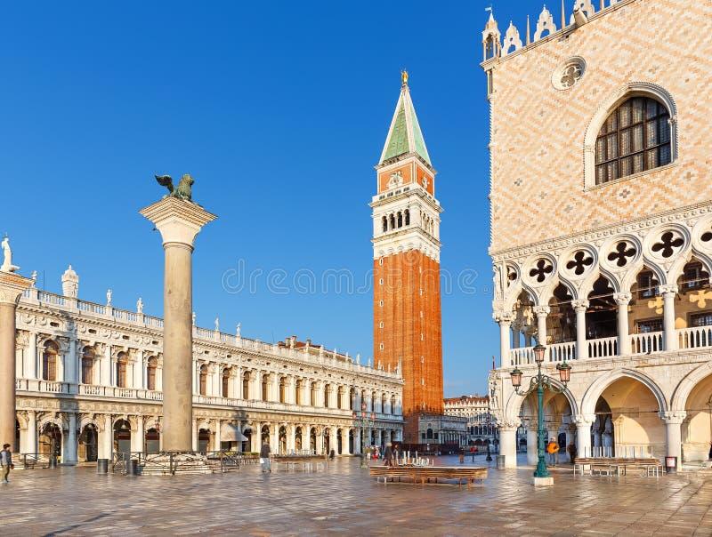 Piazza San Marko, Wenecja fotografia royalty free