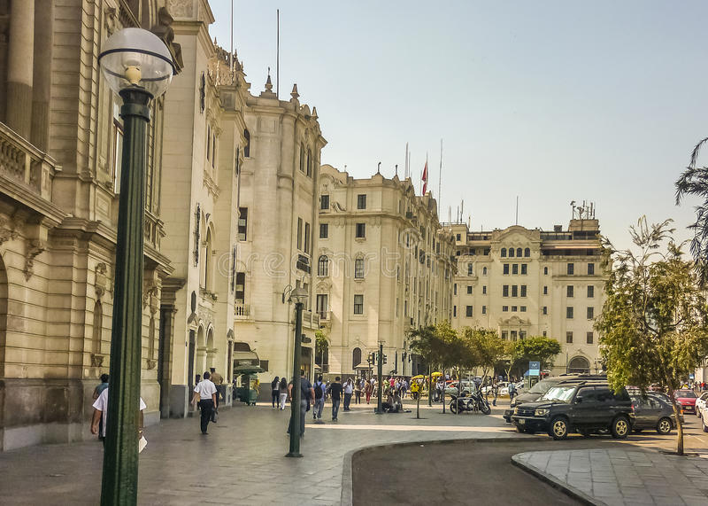 Piazza San Martin in Lima Peru lizenzfreie stockfotos