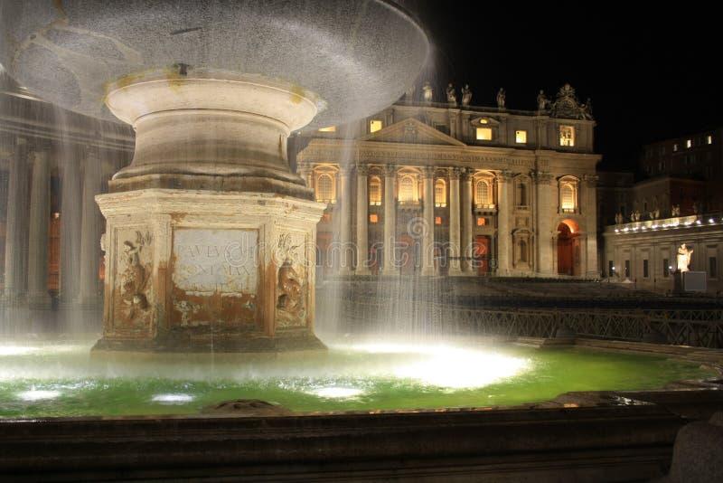 Saint Peter`s Square - Vatican City stock image