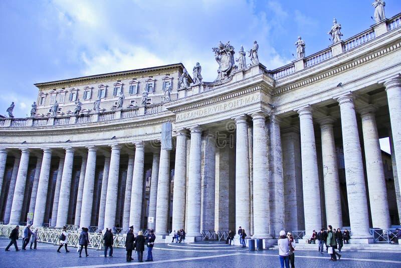 Piazza San Pietro, Vatican, Italie image stock