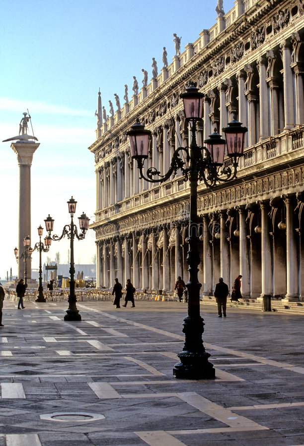 piazza san venice för diitaly marco royaltyfri bild