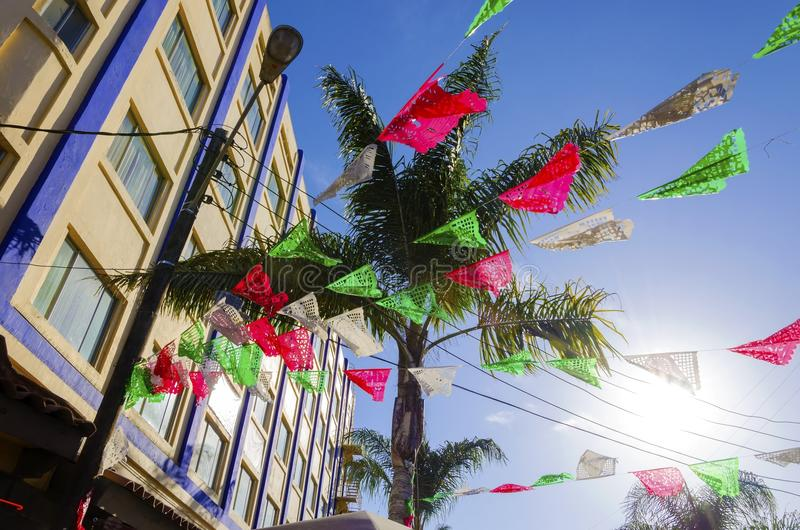 Piazza Santa Cecilia, Tijuana, Mexiko lizenzfreies stockfoto