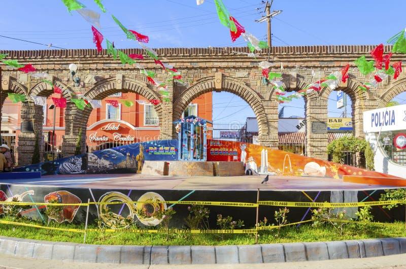 Piazza Santa Cecilia, Tijuana, Mexiko lizenzfreie stockbilder