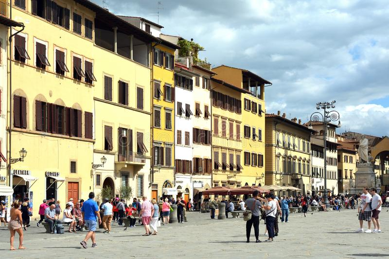 Piazza Santa Croce of Florence - Italy. royalty free stock photo