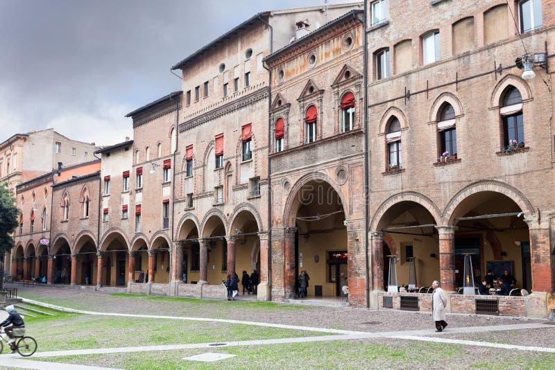 Piazza Santo Stefano a Bologna, Italia fotografia stock libera da diritti
