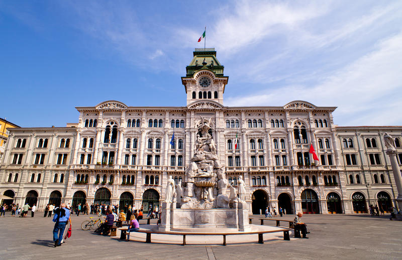 Piazza unità d'Italia, Trieste royalty free stock photos