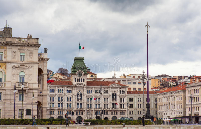 Piazza unità d'Italia, Trieste royalty free stock photography