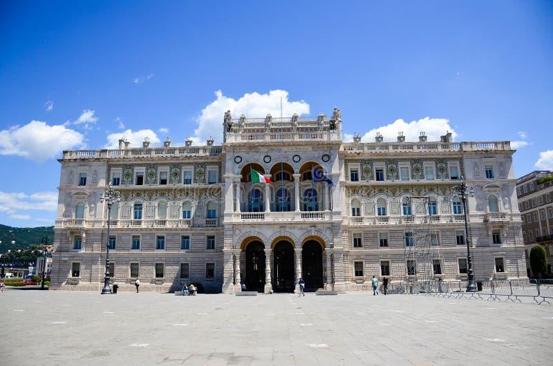 Piazza UnitàD Italia i Trieste arkivfoton