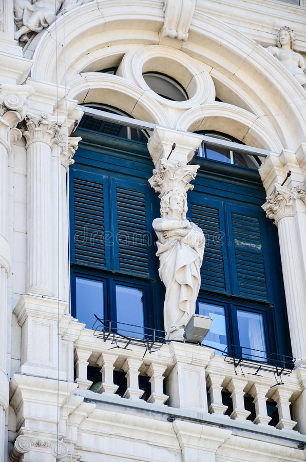 Piazza Unitàd Italie à Trieste photographie stock