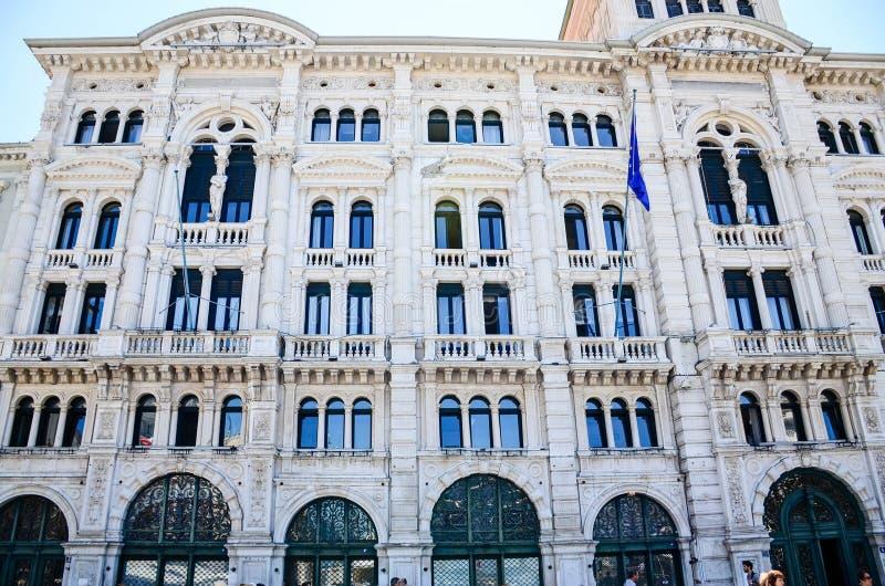 Piazza Unitàd Italie à Trieste photos libres de droits