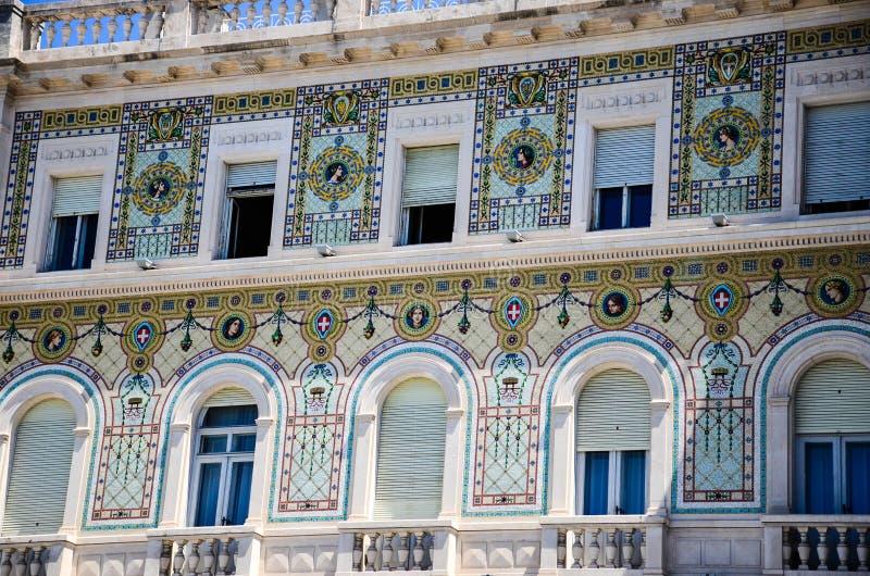 Piazza Unitàd Italie à Trieste image stock