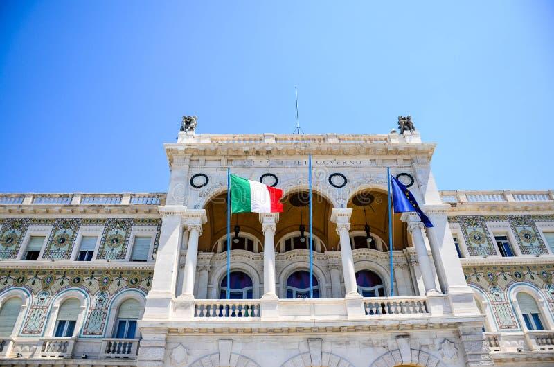 Piazza Unitàd Italie à Trieste images libres de droits