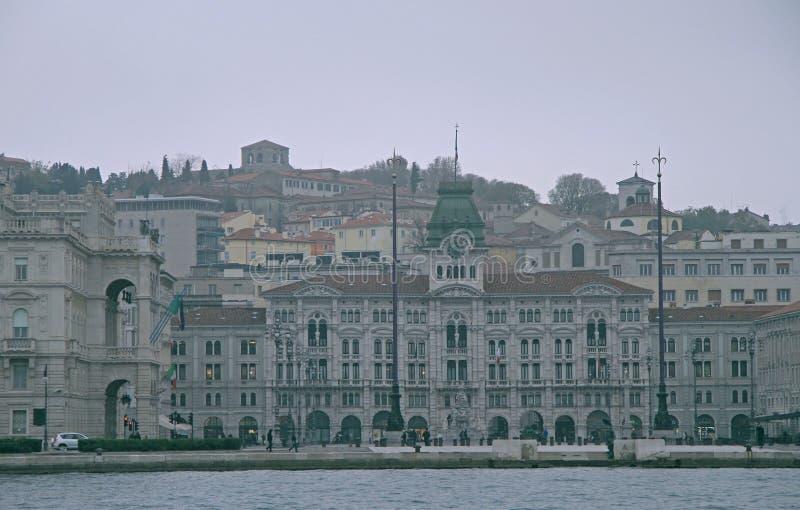 Piazza Unita d'Italia in the city center of Trieste. Italy royalty free stock photo