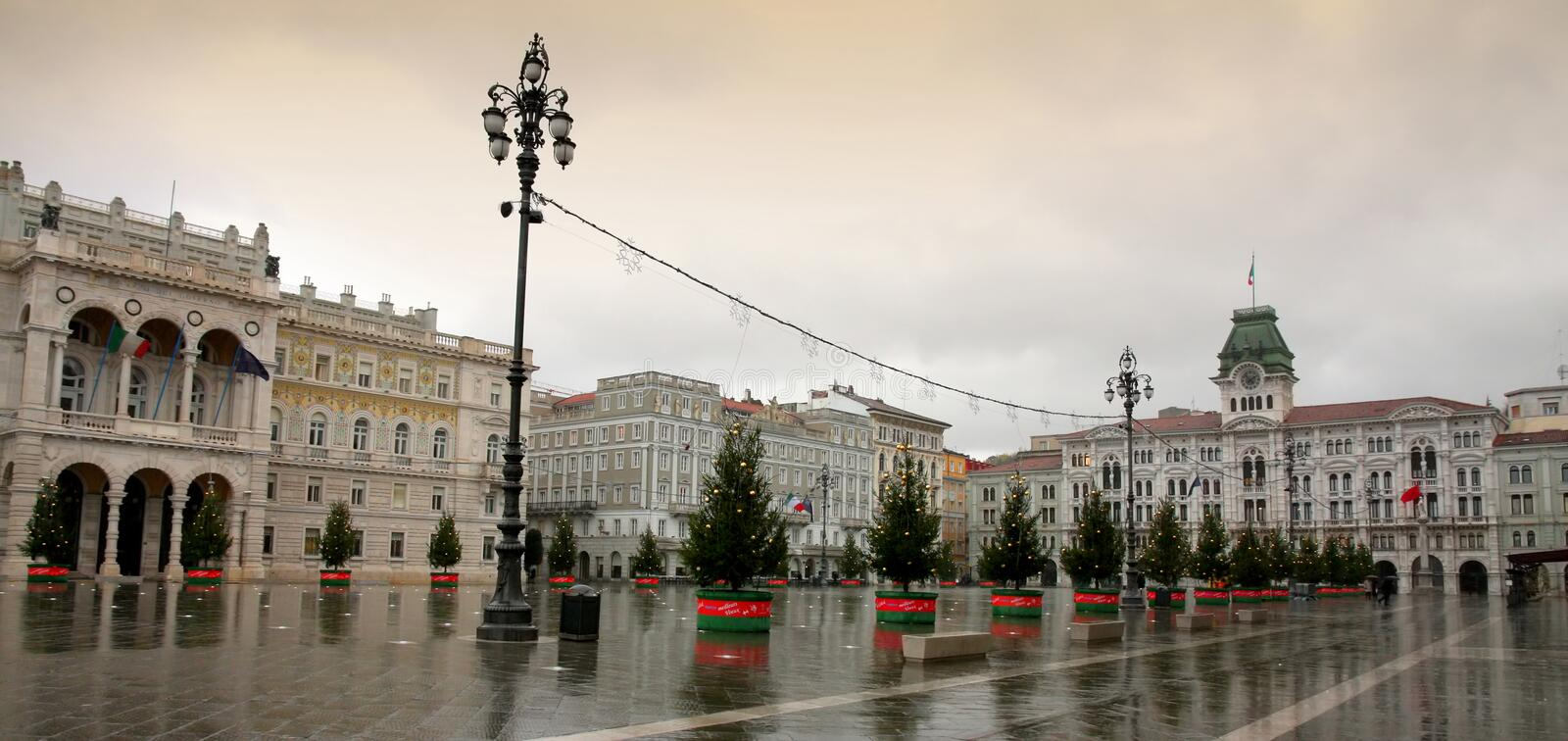 Piazza Unita, Trieste, Italia royalty free stock photos