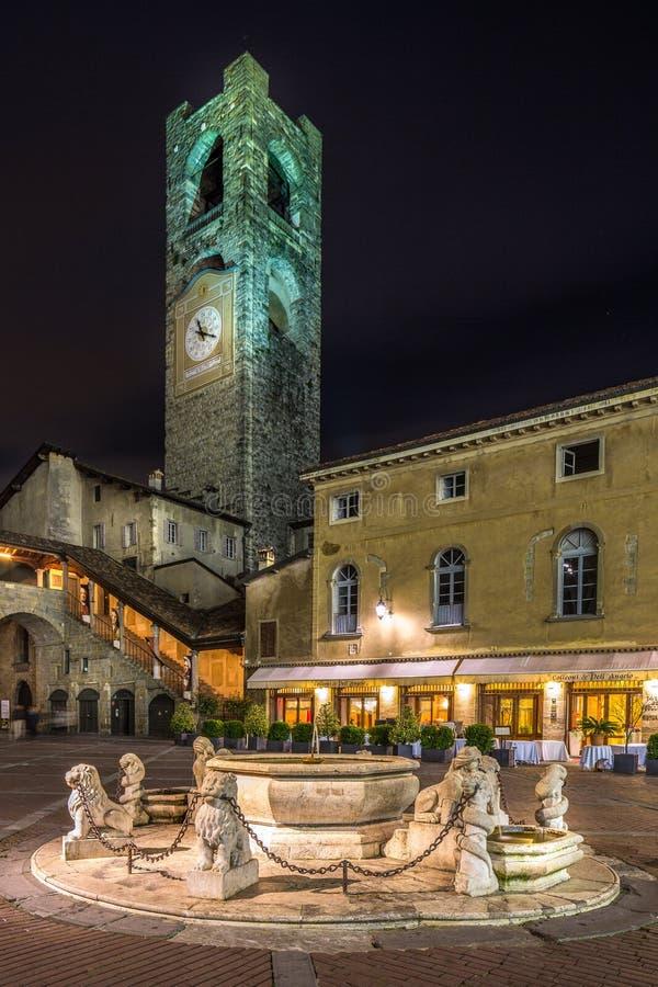 Piazza Vecchia arkivfoton