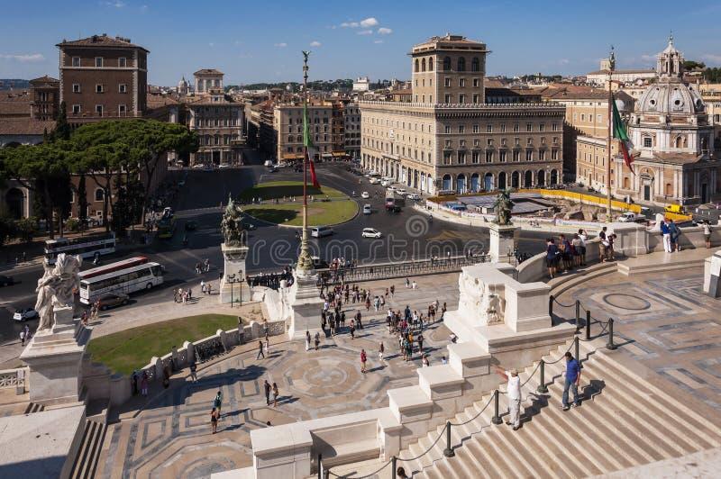 Piazza Venezia royaltyfri fotografi