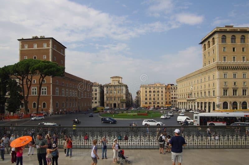 Piazza Venezia stock afbeelding