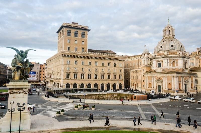 Piazza Venezia stock foto's