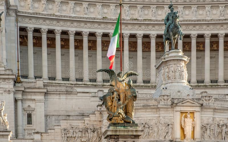 Piazza Venezia in downtown Rome Italy royalty free stock image