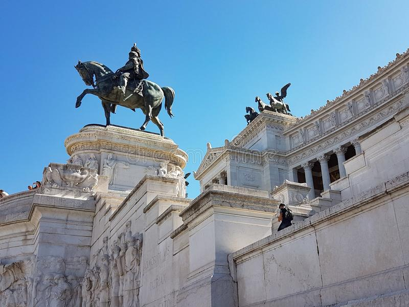 Piazza Venezia a Roma fotografia stock libera da diritti