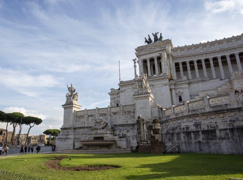 Piazza Venezia, Roma El monumento a Victor Emmanuel imágenes de archivo libres de regalías