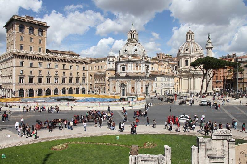 Piazza Venezia, Rome arkivbilder