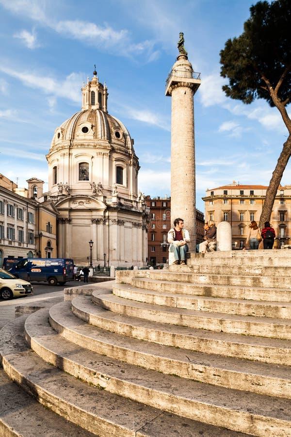 Piazza Venezia, Rome, Italien arkivbild