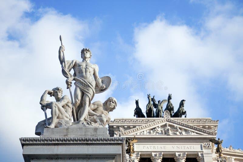Piazza Venezia w Rzym, szczegół. zdjęcie royalty free