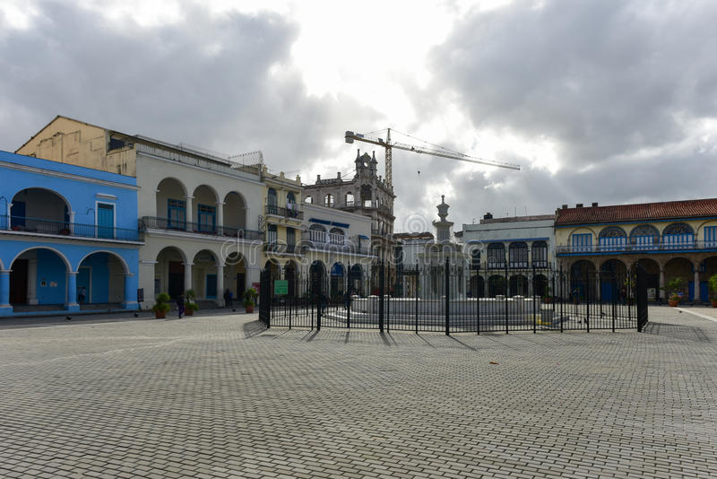 Piazza Vieja - Havana, lizenzfreies stockfoto