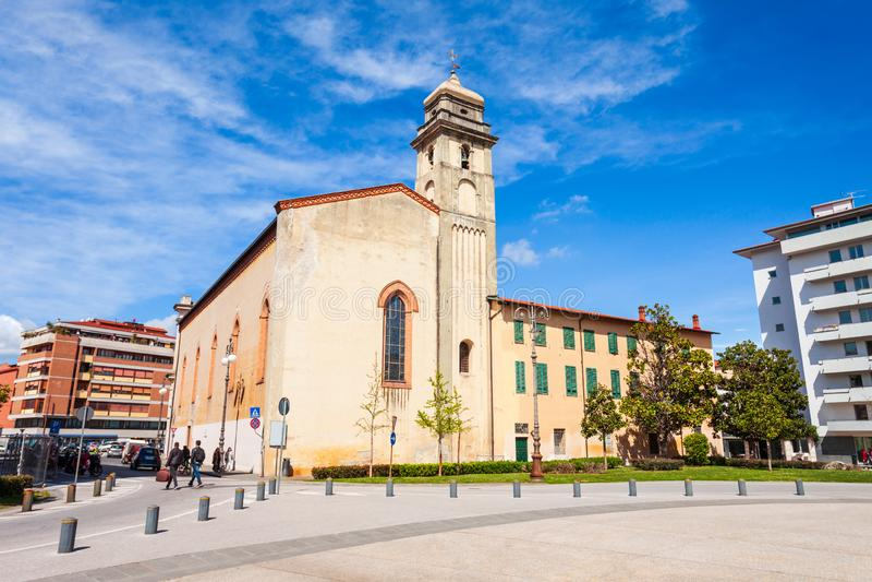 Piazza Vittorio Emanuele in Pisa royalty free stock photo