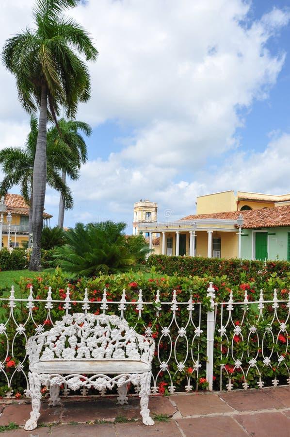 Piazzabürgermeister, Trinidad, Kuba lizenzfreies stockbild